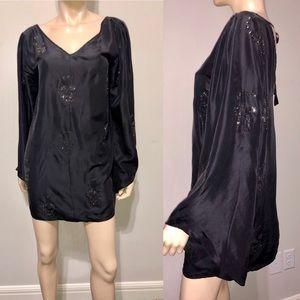 Philipp Plein Black Silk Mini Dress L